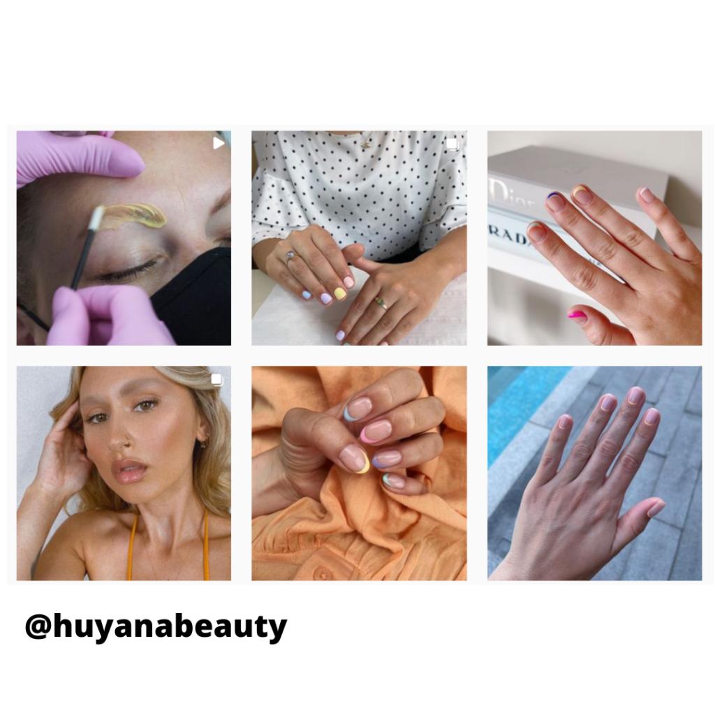@huyanabeauty instagram grid