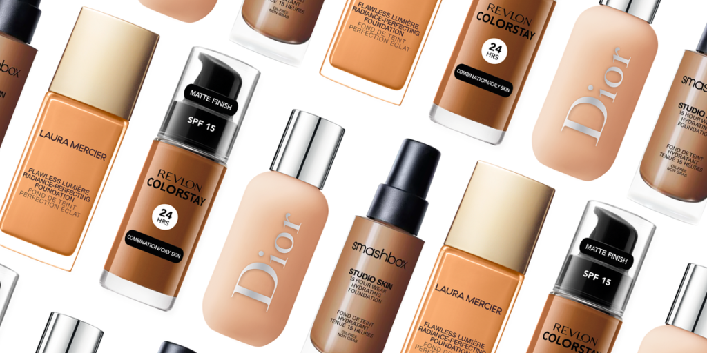 a variety of foundations for a makeup artist's kit