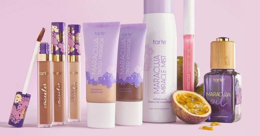 a selection of tarte makeup, cruelty free makeup