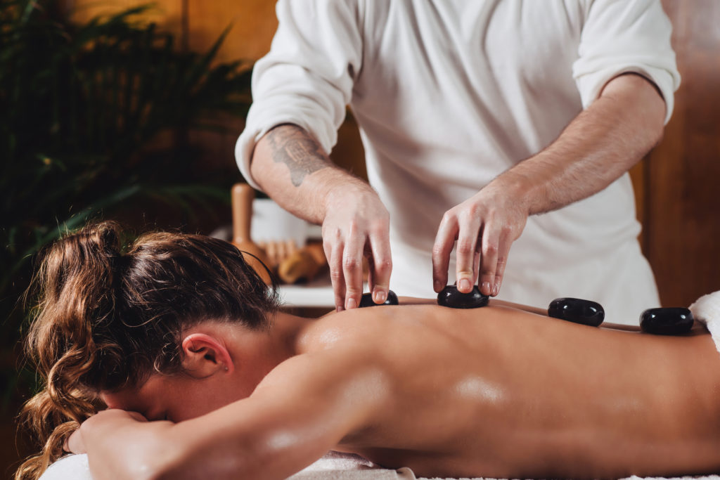hot stone massage technique